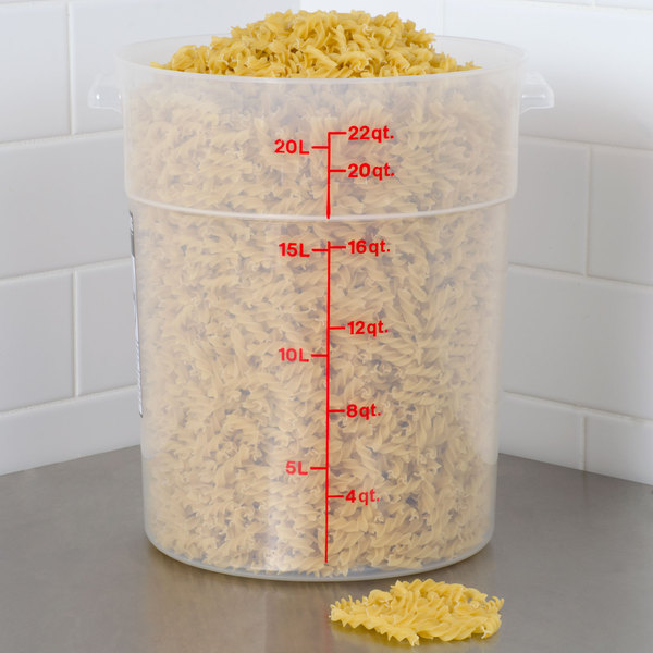 cambro 22qt round food container