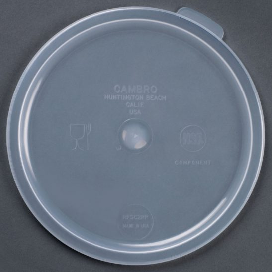 cambro 2qt 4qt round food container lid