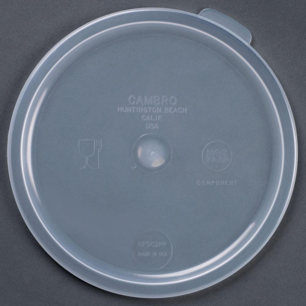 cambro 2qt 4qt round food container lid
