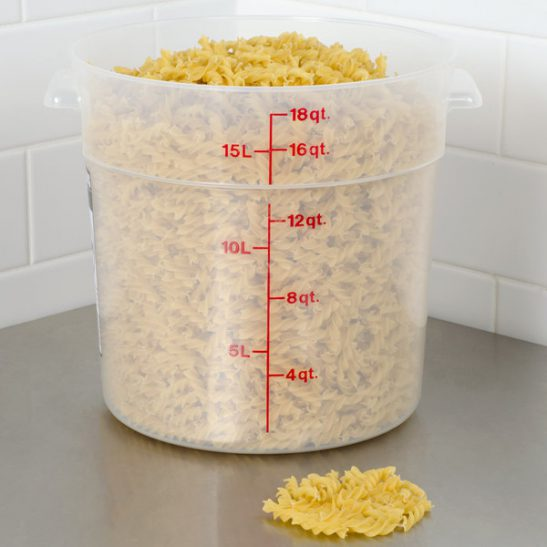 cambro 18qt round food container