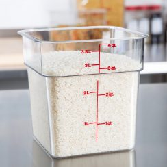 cambro 4qt clear square food container
