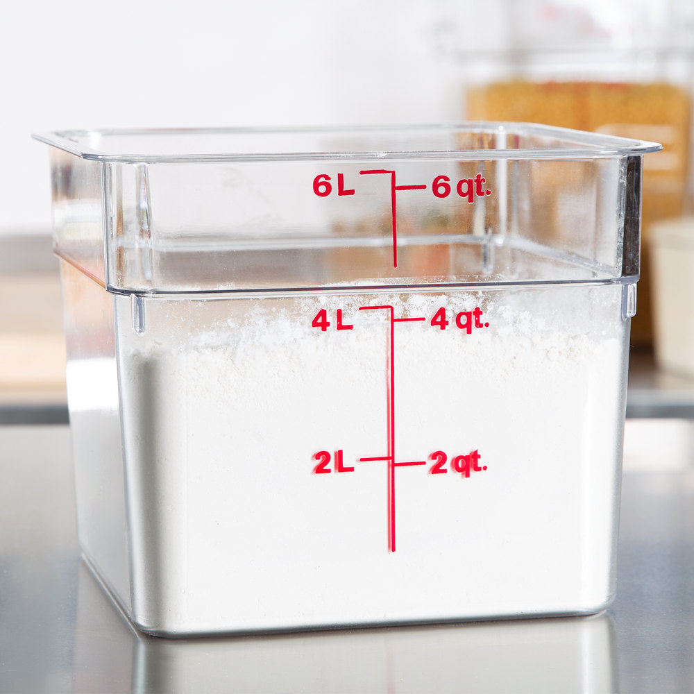 CAMBRO 6QT CLEAR SQUARE FOOD CONTAINER -Rush\'s Kitchen