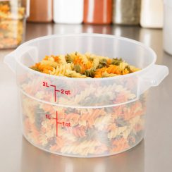 cambro 2qt round food container
