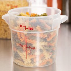 cambro 1qt round food container