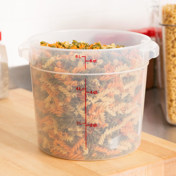cambro 6qt round food container