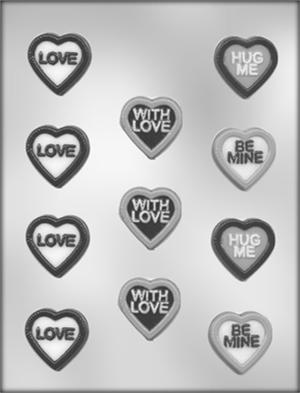 Heart With Messages Candy Mold