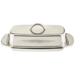 NORPRO COVERED STAINLESS STEEL BUTTER DISH
