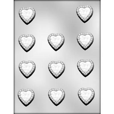 RUFFLED HEART CANDY MOLD