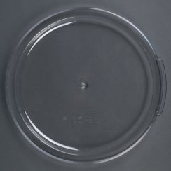 cambro 6qt 8qt clear round food container lid