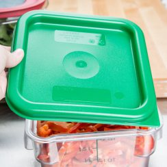 cambro 2qt 4qt green square food container lid