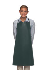 no pocket hunter green vinyl apron