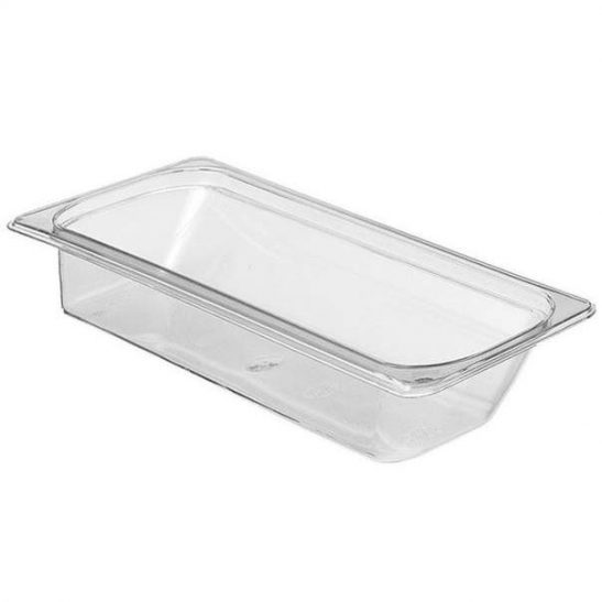 cambro 1/3 x 2 1/2 inch clear food pan