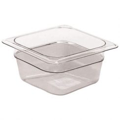 cambro 1/6 x 2 1/2 inch clear food pan