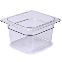 cambro 1/6 x 4 inch clear food pan