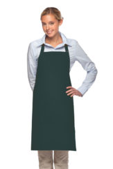 HUNTER GREEN DAYSTAR APPAREL TWO POCKET BIB APRON