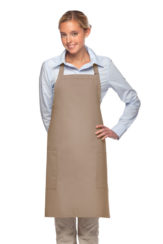 KHAKI DAYSTAR APPAREL TWO POCKET BIB APRON