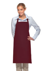 BURGUNDY DAYSTAR APPAREL TWO POCKET BIB APRON