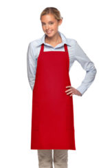 RED DAYSTAR APPAREL TWO POCKET BIB APRON