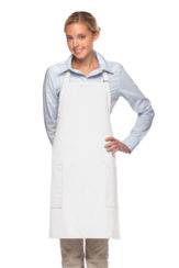 WHITE DAYSTAR APPAREL TWO POCKET BIB APRON