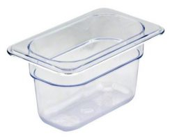 cambro 1/9 x 6 inch clear food pan