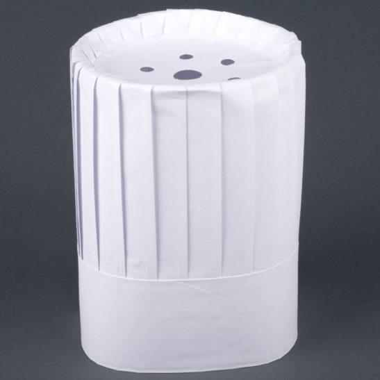 9 inch white paper chef hat