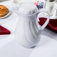 WINCO 42 OZ INSULATED WHITE BEVERAGE SERVER