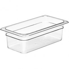 cambro 1/3 x 4 inch clear food pan