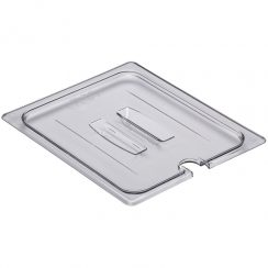 cambro half clear cover with handle and notch