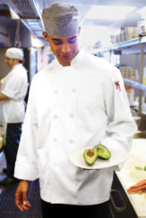 CHEF WORKS LE MANS EXTRA SMALL WHITE CHEF COAT