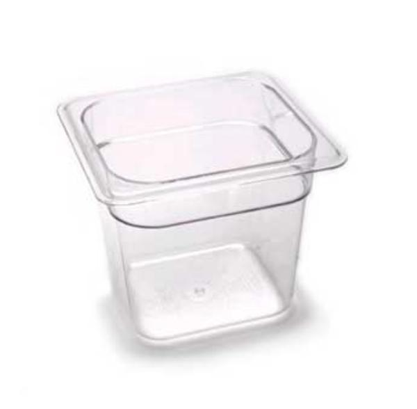 cambro 1/6 x 6 inch clear food pan