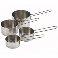 WINCO DELUXE STAINLESS STEEL MEASURING CUP SET