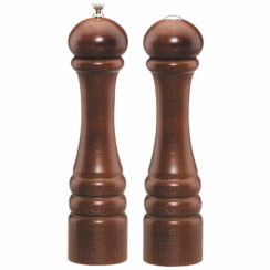 10 INCH IMPERIAL WALNUT PEPPER MILL AND SALT SHAKER SET