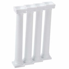 "7"" GRECIAN PILLARS, 4 PACK"
