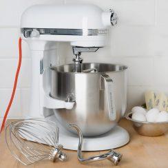 kitchenaid 8 qt white commercial mixer