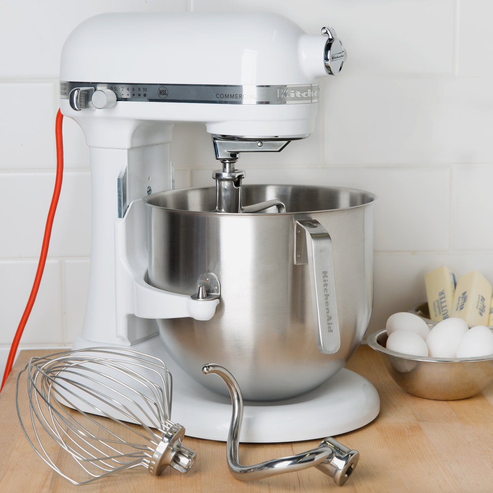 Merveilleux KITCHENAID 8QT WHITE COMMERCIAL MIXER