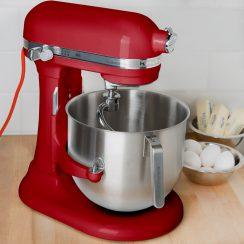 kitchenaid 8qt empire red commercial mixer
