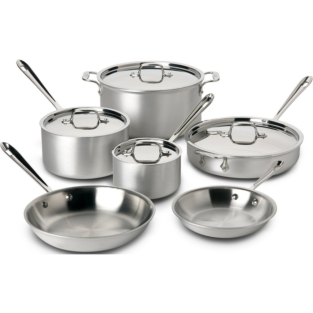 ALLCLAD 10 PIECE STAINLESS STEEL COOKWARE SET Rushs Kitchen
