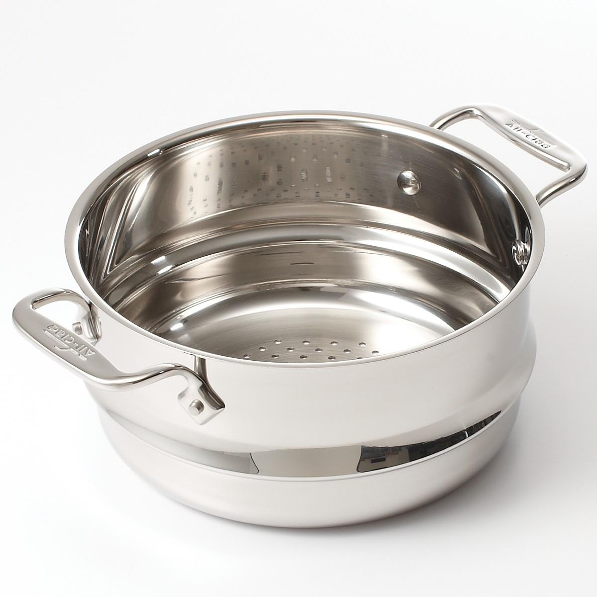 All clad stainless steel steamer insert rush s kitchen