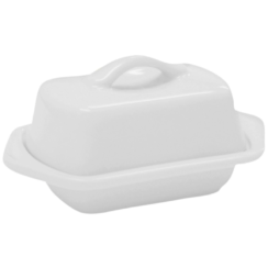 CHANTAL 5 INCH WHITE MINI BUTTER DISH