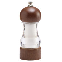 CHEF SPECIALTIES VANGUARD WALNUT AND ACRYLIC SALT MILL