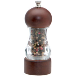 CHEF SPECIALTIES VANGUARD WALNUT AND ACRYLIC PEPPER MILL