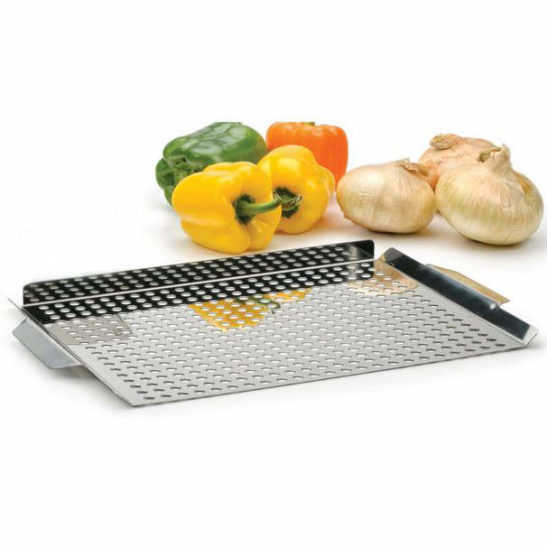 STAINLESS STEEL BARBECUE GRILLING PAN