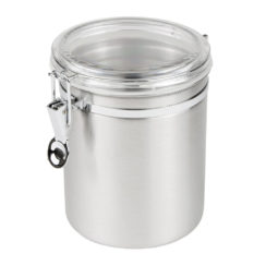 55 OZ STAINLESS STEEL CANISTER WITH LID