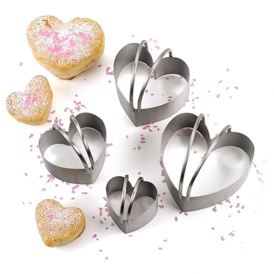 RSVP ENDURANCE HEART BISCUIT CUTTER SET
