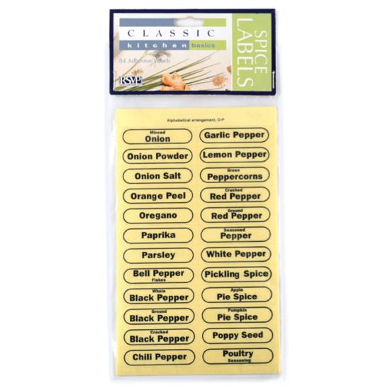RSVP International Clear Spice Labels