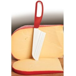 RED HANDLE CHEESE KNIFE