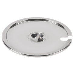 4 QT STAINLESS STEEEL NOTCHED COVER