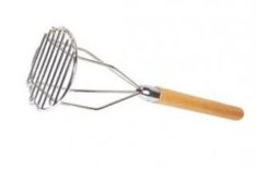 "18"" POTATO MASHER-WOOD HANDLE"