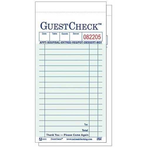 GUEST CHECKS WITH DUPLICATE