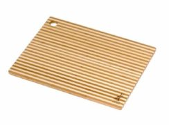 ISLAND BAMBOO 14X11 LAGUNA HONEY STRIPE CUTTING BOARD